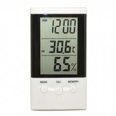 Термометр цифровой с гигрометром и часами